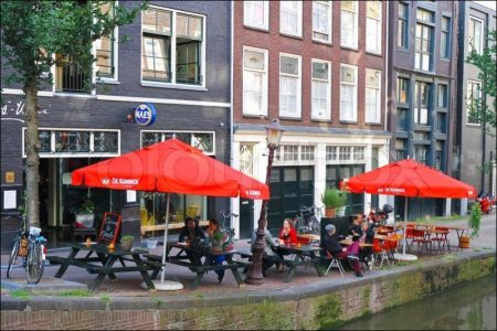 Sidewalk Cafe Sitting in Amsterdam