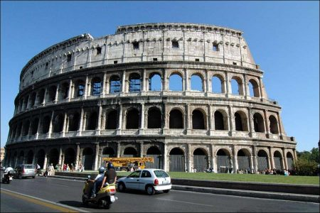 "The Colosseum was a ""marvel"" of Rome"