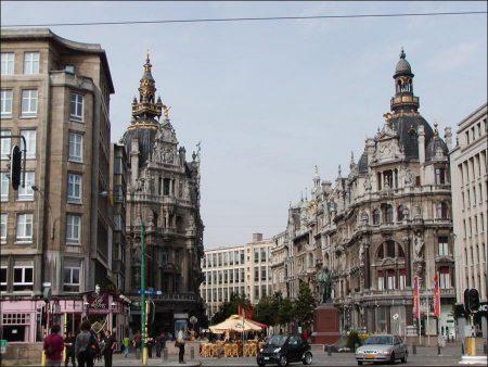 Historical Buildings in Antwerp, Belgium