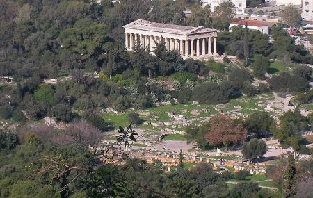 Ancient Agora of Athens in Greece