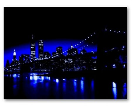 Brooklyn Bridge in Blue Night