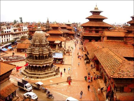 Katmandu with Temples and Palaces in Nepal