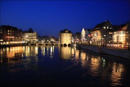 Evening in Zurich, Switzerland