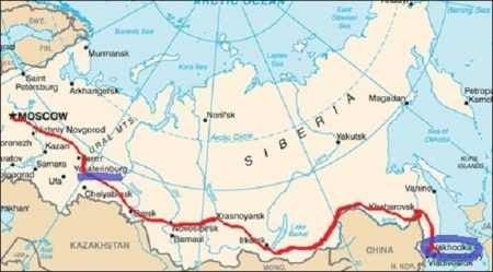 To Vladivostok from Moscow by Trans-Siberian Express