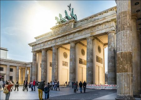 Germany: Brandenburg Gate in Berlin