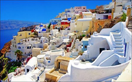 Traveling to Mykonos and Santorini Islands in Greece