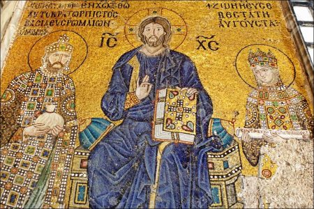 The Mosaics of St. Sophia Museum at Istanbul