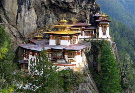 Tiger's Nest in the mystical country Bhutan