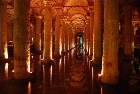 Yerebatan Basilica Cistern in Istanbul